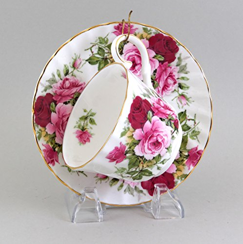 English Bone China Summertime Rose Cup & Saucer (Saucer English China Bone Fine)