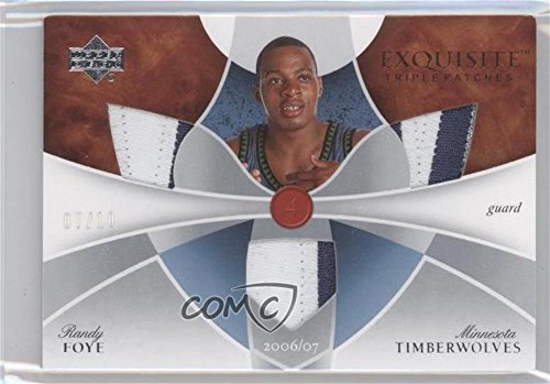 Randy Foye #7/10 (Basketball Card) 2006-07 Upper Deck Exquisite Collection - Exquisite Triple Patches #ETP-RF