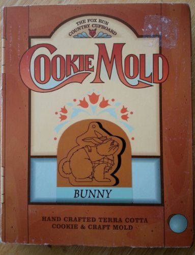 The Fox Run Country Cupboard Cookie Mold, 6906, Bunny, Hand Crafted Terra Cotta Cookie & Craft Mold