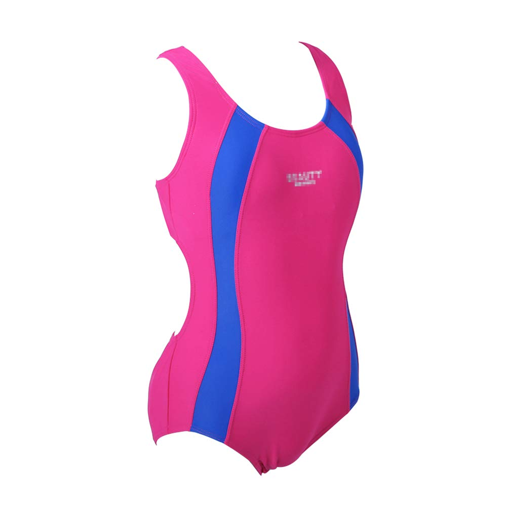 BYLIKE-SWIM Children One-Piece Splice Competitive Swimsuits Girls Swimwear Wetsuits