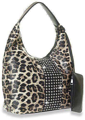 - Rhinestone Accented Hobo Handbag Set