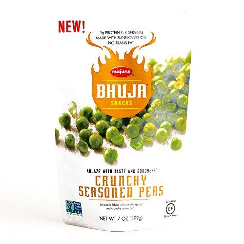 Bhuja Crunchy Seasoned Peas 7 oz each (3 Items Per Order)