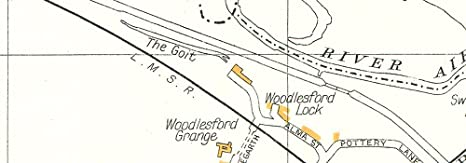 YORKS.Rothwell,Newsam Green,Oulton,Winter Wood,Woodlesford 1935 old map