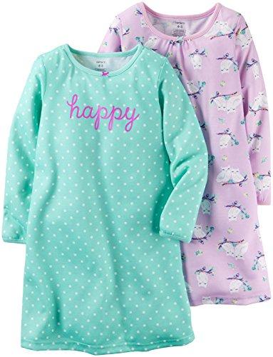 Carter's Girls 2 Pk Gown Poly, Print, 6