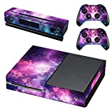 UUShop Protective Vinyl Skin Decal Cover for Microsoft Xbox One Console wrap Sticker Skins with Two Free Wireless Controller Decals Universal Starry Sky(NOT for One S or X)