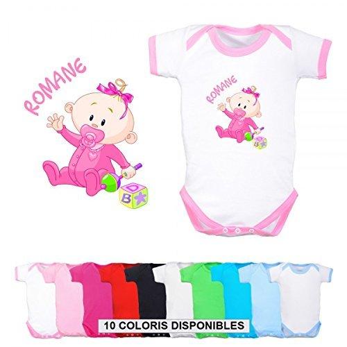 Body personnalisé bébé fille et prénom