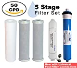 Filter Replacement Pack | 50 GPD Membrane Included | for 5 Stage Home RO Water Filtration System