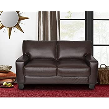 "Serta Deep Seating Palisades 61"" Loveseat in Essex Chestnut"