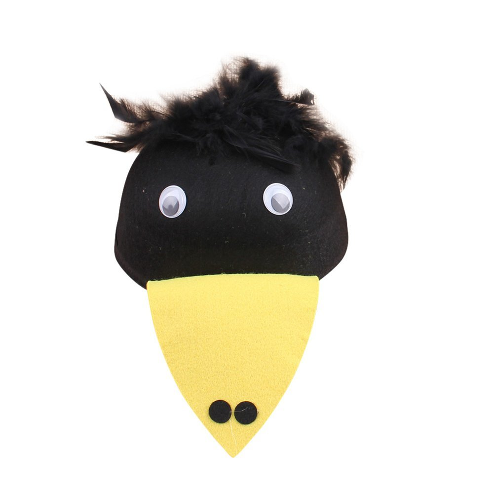 Remeehi Cartoon Animal Children Hats Kindergarten Role-playing Children Theater Festival Dressed Head Decoration woodpecker