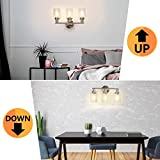 Wall Vanity Light Fixture, 3-Light Wall Sconce