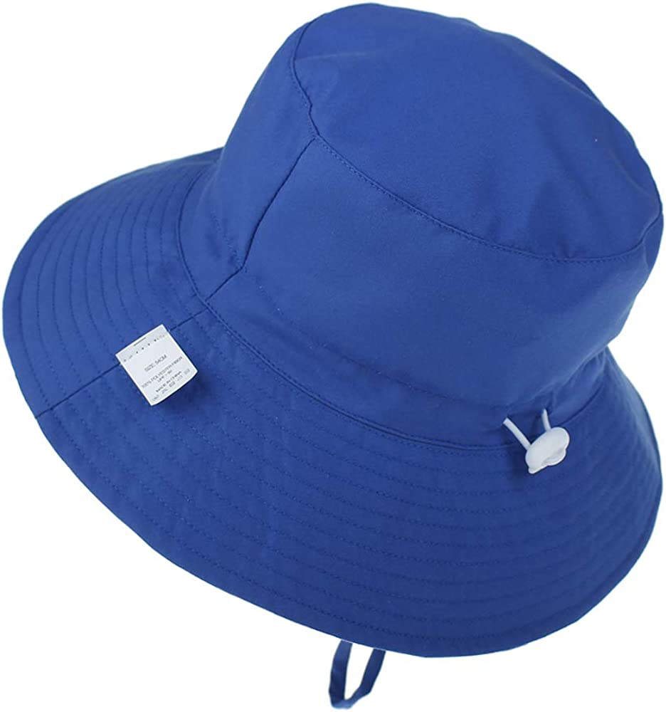 Wide Brim Beach Cap with Adjustable Chin Strap LACOFIA Baby Sun Hat Toddler Boys Girls Summer Bucket Hat Kids UPF 50