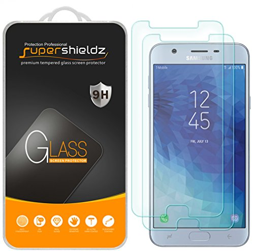 (2 Pack) Supershieldz for Samsung (Galaxy J7 Star) Tempered Glass Screen Protector, Anti Scratch, Bubble Free (Star Protector Case)
