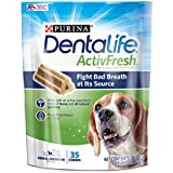 Purina DentaLife Small/Medium Breed Dog Dental Chews; ActivFresh Daily Oral Care Small/Medium Chews - 35 ct. Pouch