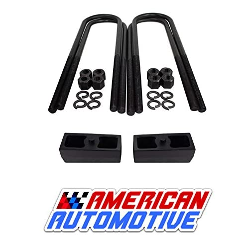 "2002-2008 RAM 1500 2WD/ 4WD 3"" Rear Suspension Lift Solid Cast Iron Blocks + Extra Long 11"" Round Leaf Spring Axle U Bolts supplier"