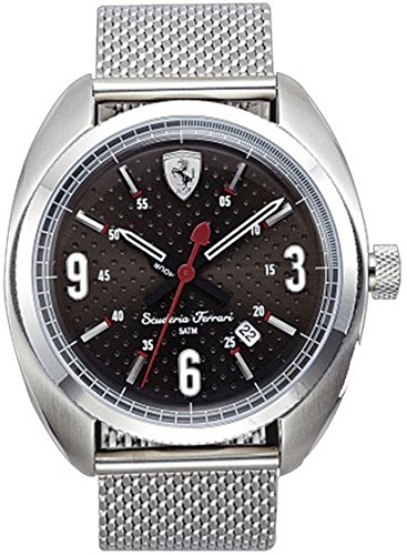 Ferrari 830211 Scuderia Stainless Steel Mens Watch - Black Dial