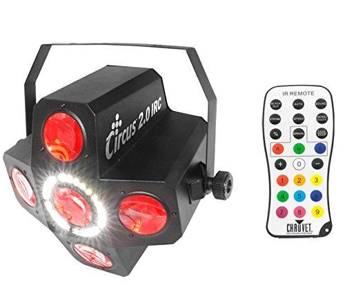 Chauvet CIRCUS 2.0 IRC LED RGBWA DJ Beam & Strobe Effect Light w/Wireless Remote