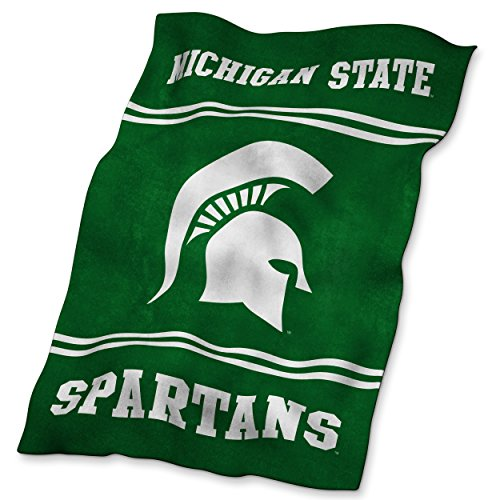 Logo Brands NCAA Michigan State Spartans Ultrasoft (Fleece Michigan State Spartans Blanket)
