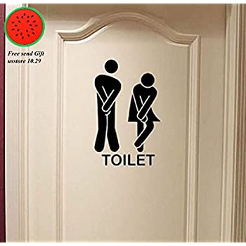 Removable Cute Man Woman Washroom Toilet WC Wall Sticker Family DIY Decor  Art Stickers Home Decor