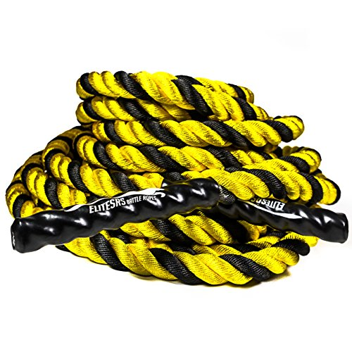EliteSRS Fitness Battle Ropes with Anchor Kit for Core Exercise, Fitness Rope and Strength Training - 1.5