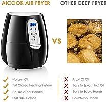 AICOK Freidora sin Aceite, Freidora de Aire Caliente 1400W 3, 5 L ...