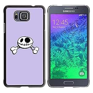 Paccase / SLIM PC / Aliminium Casa Carcasa Funda Case Cover - Funny Happy Skull Smiley - Samsung GALAXY ALPHA G850