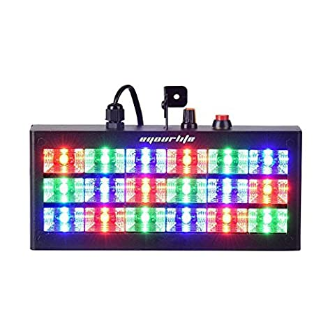 Eyourlife 18 LED 60w Strobe RGB Flash Light Stage Party Lighting Sound Activated for Club Disco Party Bar (DJ Equipment)