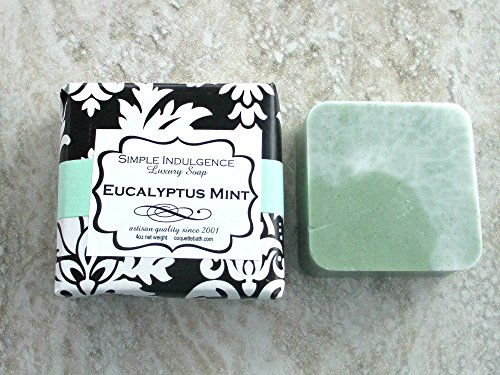 Eucalyptus Mint Shea butter enriched soap. Creamy lather handmade soap, soft herbal fragrance.