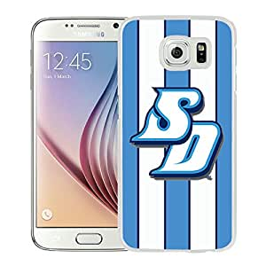 NCAA San Diego Toreros 02 White Popular Custom Design Samsung Galaxy S6 G9200 Phone Case