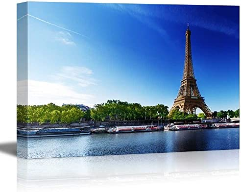 Seine in Paris with Eiffel Tower in Sunrise Time Home Deoration Wall Decor