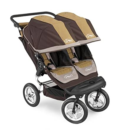 Baby Jogger City Elite Double Stroller Brown Tan Discontinued By Manufacturer