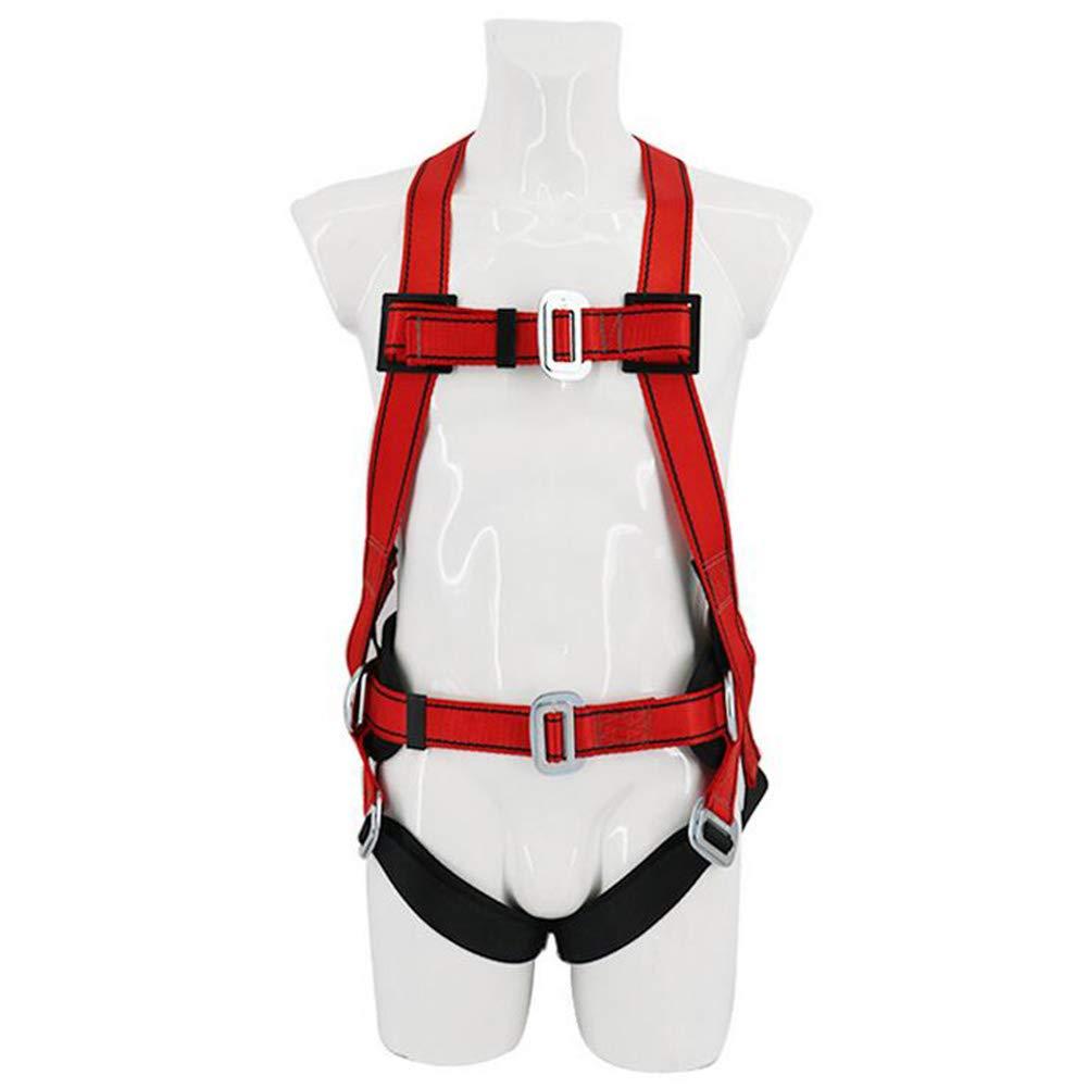 UPNK Full Body Safety Belt Climbing Construction Safety Belt Belt Waist Double Back Full Body Aerial Work Belt (red)
