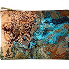 Makeup Bag Or Pencil Case With Abstract Art In Southwest Colors Canyon Sunset
