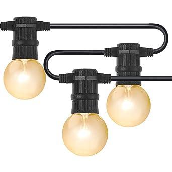 Guirnalda de 25 bombillas G40, 762 cm LED Guirnaldas de bombillas, tipo globo,