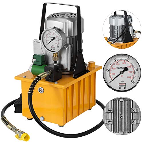 - Happybuy 10152 PSI Hydraulic Electric Pump 750W Single Acting 110V Solenoid Pedal 7L Hydraulic Power Pack Cylinder