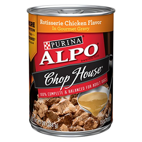 - Purina ALPO Gravy Wet Dog Food; Chop House Rotisserie Chicken Flavor in Gravy - 13 oz. Can