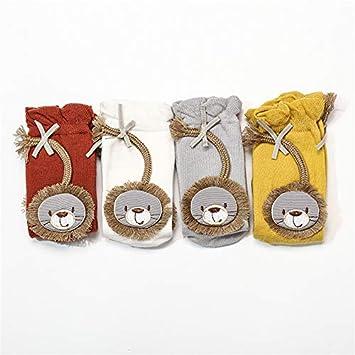 Rose Red, Small Toddler Knee High Socks for Newborns Print Catoon Animal Lion Baby Boys Girls Meias Kids Long Sock Breathable Infant Bow Sokken