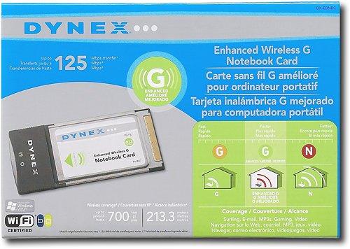 Dynex Wireless G Notebook Card