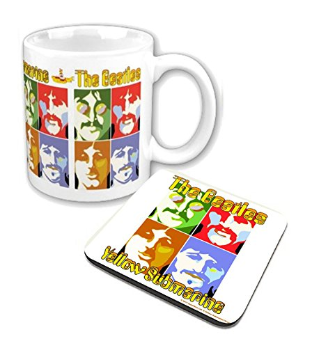 The Beatles Mug And Coaster Yellow Submarine Sea Of Science Official Gift Set