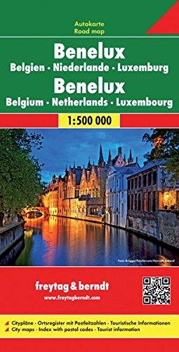 Freytag Berndt Autokarten, Benelux (B, NL, L) - Maßstab 1:500 000 (freytag & berndt Auto + Freizeitkarten) (Englisch) Landkarte – Folded Map, 10. August 2015 Freytag-Berndt und Artaria KG 3850842800 Karten / Stadtpläne / Europa Belgien