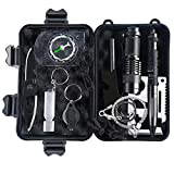 Emergency Survival Kit, Portin SOS-10 in 1 Multi-Purpose Survival Tools Outdoor Emergency Gear Kits Campfire Tools for Camping Adventure Hunting Traveling Fishing Hiking, Earthquake Tsunami