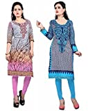 Nakoda Women's Cotton Combo Of 2 Unstitched Kurti (Multicolor_Free Size)