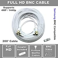 STS-FHDC200 Premium HD 200 BNC Cable with Coupler Compatible w/ Samsung SDH-C85100, SDC-89440BC