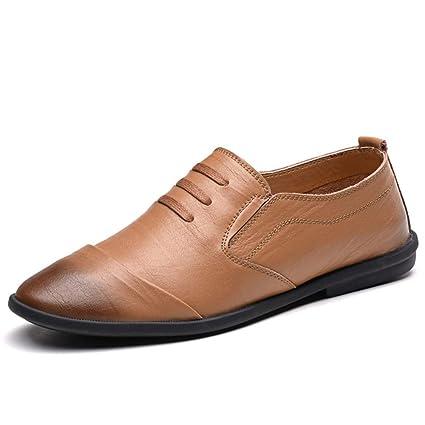 Xiazhi-shoes, Mocasines de conducción Retro clásicos de los Hombres frotan el Color Suave