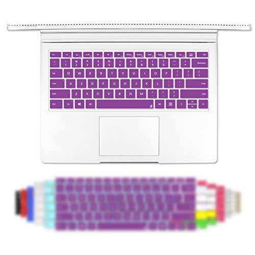 Masino Silicone Keyboard Cover Ultra Thin Keyboard Skin for Microsoft Surface Book (Silicon Keyboard Skin-Purple)