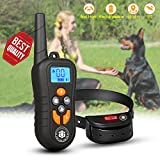 Training Dog Collar - Dog Training Collar,Shock Bark Training Collar with NO Hurt and Rechargeable and IP7 Level Waterproof with 1800FT Remote Beep/vibration/Shock Electronic Collar Modes for Small Medium Large Dogs