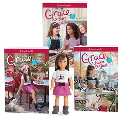 American Girl Grace 6-Inch Mini Doll & Three Book Set for Girls