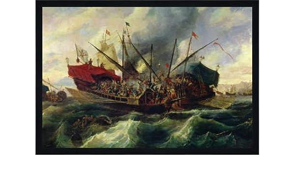 art9000 de reproducción: Antonio De Brugada The Naval Battle of Lepanto Between The Holy League and The Islas Turcas En 1571 73 x 49: Amazon.es: Juguetes y juegos