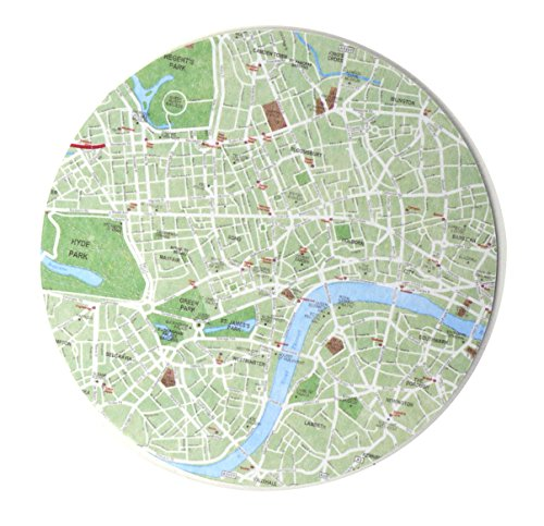 Design Ideas London Map Coaster (Set of 10)