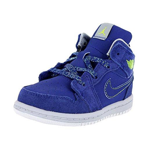 NIKE Jordan 1 Mid GT Toddlers First Walker Shoes Deep Royal Blue/FRC Green/Wolf Grey 644507 407 3.5 C US Toddlers Deep Royal Blue/FRC Green-Wolf Grey