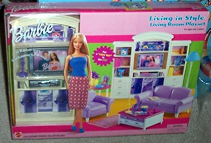 Barbie Living In Style Living Room Playset By Mattel